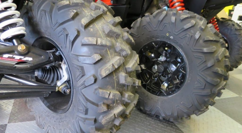 Two ATV tires not holding air